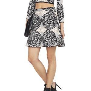 Womens BCBGMAXAZRIA Peyton Fit Flare Skirt El